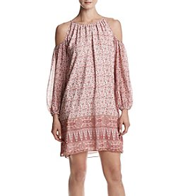 Max Studio Edit™ Printed Cold Shoulder Dress