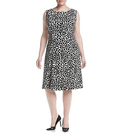 Kasper® Plus Size Dot Printed Dress