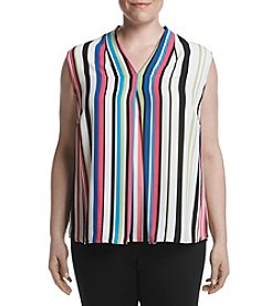 Nine West® Plus Size Striped Blouse