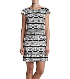 K. Studio Striped Bubble Cap Sleeve Dress