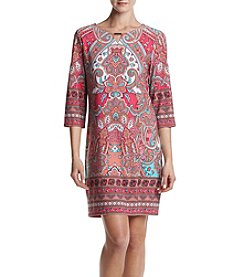 K. Studio Printed Keyhole Dress