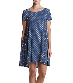 Lennie Dot Printed Lace Up Dress