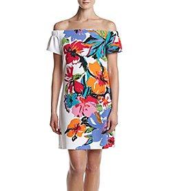 Lennie Off Shoulder Printed Dress