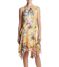 Lennie Asymmetrical Hem Printed Dress