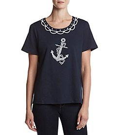 Alfred Dunner® Anchor Knit Top