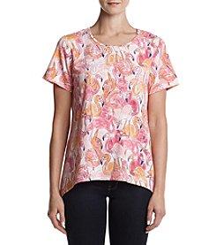 Alfred Dunner® Flamingo Printed Shirt