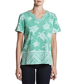Alfred Dunner® Turtle Printed Top