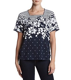Alfred Dunner® Lady Liberty Print Knit Top