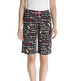 Relativity® Printed Knit Sleep Bermuda Shorts