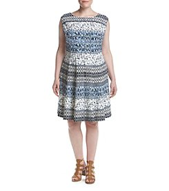 Gabby Skye® Plus Size Printed Dress
