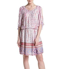 Ruff Hewn Paisley Cold Shoulder Dress
