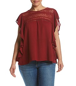 Hippie Laundry Plus Size Ruffle Peasant Top