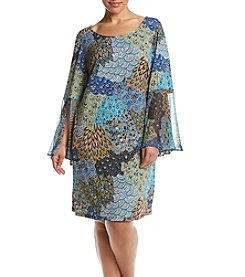 MSK® Plus Size Bell Sleeve Shift Dress