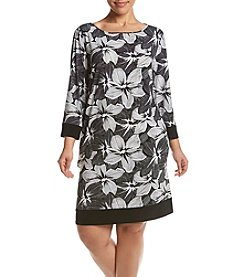 MSK® Plus Size Floral Shirt Dress