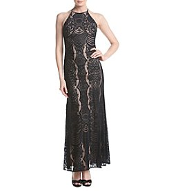 Morgan & Co.® Long Lace Gown