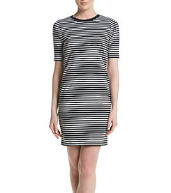 MICHAEL Michael Kors® Stripe Crew Neck Dress