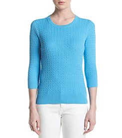 Jeanne Pierre® Solid Crew Neck Sweater