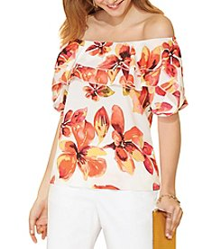 Rafaella® Floral Off The Shoulder Top