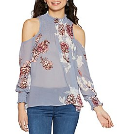Living Doll® Floral Cold Shoulder Top