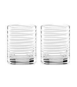 kate spade new york® Set of 2 Charlotte Street White Double Old Fashion Glasses