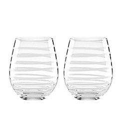 kate spade new york® Set of 2 Charlotte Street Stemless White Wine Glasses
