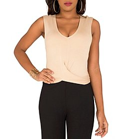 Poetic Justice® Lalani Tie Front Crop Baby French Terry Top
