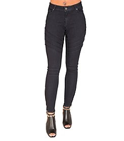 Poetic Justice® Marley Motto Pintuck Skinny Jeans