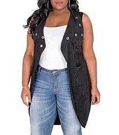 Poetic Justice® Plus Size Kelis Maxi Vest