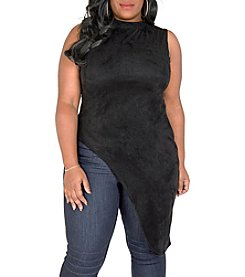 Poetic Justice® Plus Size Laneka Asymmetrical Mock Neck Top