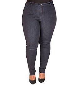 Poetic Justice® Plus Size Marley Moto Skinny Jeans