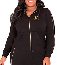 Poetic Justice® Plus Size Rachel Zip-Up Hoodie