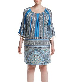 Oneworld® Plus Size Printed Shift Dress