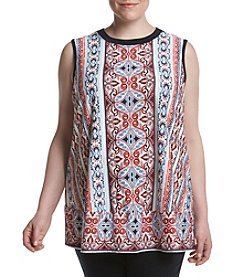 AGB® Plus Size Printed Swing Tank