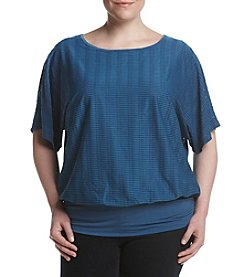 AGB® Plus Size Textured Top