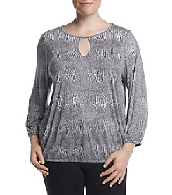 MICHAEL Michael Kors® Plus Size Zephyr Peasant Top