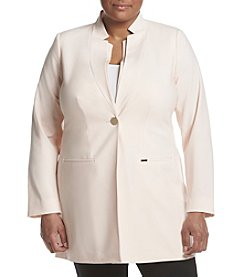Calvin Klein Plus Size Pleated Collar Jacket