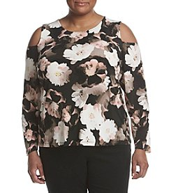 Calvin Klein Plus Size Floral Printed Top