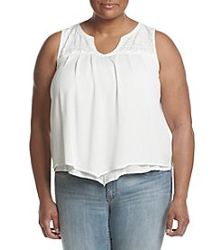 Democracy Plus Size Crochet Hanky Tank