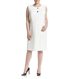 Kasper® Plus Size Stretch Button Detail Dress