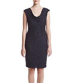Connected® Glitter Pattern Draped Dress