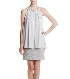 Jessica Howard® Draped Popover Beaded Dress