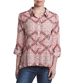 Studio Works® Printed Button Front Shirt