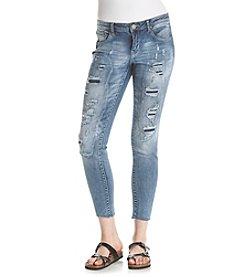 Crave Fame Raw Hem Rip & Repair Jeans