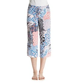 Ellen Tracy® Wideleg Patchwork Capri Pants