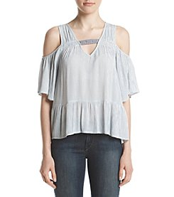 Eyeshadow® Cold-Shoulder Peplum Top