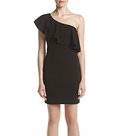 Emerald Sundae® Ruffle Shoulder Slim Dress