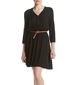A. Byer Zip Front Shirt Dress