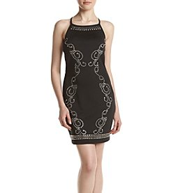 Swat Embellished Scuba Dress