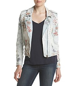 BLANKNYC® Floral Embroidered Denim Jacket