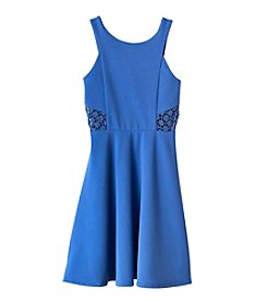 Rare Editions® Girls' 7-16 Halter Fit N Flare Dress